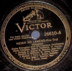 1940-Never No Lament (Ellington)-Victor 26610-A