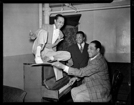 Honey-Cole-Billy-Strayhorn-Duke-Ellington-by Teenie-Harris-c.1942-43