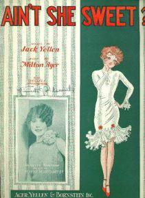 1927--Ain't She Sweet-Ager-Yellen