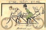 Bicycle built for two-illustration dated1899