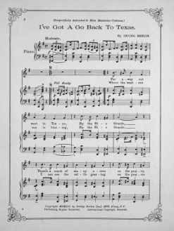 From The Levy Sheet Music Collection at JScholarship https://jscholarship.library.jhu.edu/handle/1774.2/9861 This is page 2, or the side opposite the cover. The cover isn't displayed at the link given above. The title is misspelled.