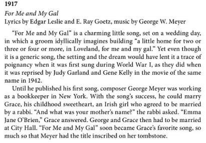 1917- ForMeandMyGal-songprofile-America's songs-Philip Furia-michael lasser