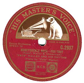 1939 Honeysuckle Rose, Fats Waller, B-side of HMV C-2937 (1)-d20-hC