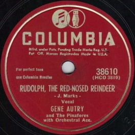 1949 Rudolph, the Red-Nosed Reindeer-Gene Autry-Columbia 38610