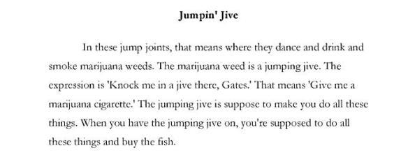 Jumpin Jive Songbook