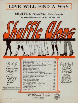 Love Will Find a Way (Eubie Blake, Noble Sissle) Shuffle Along sheet music, 1921