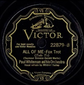 1931 All of Me-Paul Whiteman and his Orchestra-Victor 22879 label