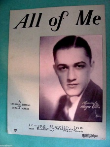 1931 All of Me-sheet-featuring Seger Ellis-1a-85p