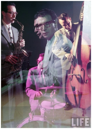 Dave Brubeck Quartet, 1954 (with Desmond, Bates, and Dodge), by Eliot Elisofon