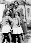 Dorothy Dandridge (right) sister Vivian, mother Ruby (upper left), and (mother's companion) Geneva Williams