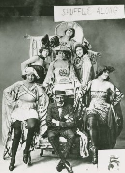 Shuffle Along, 1921-Noble Sissle with chorus girls, Adelaide Hall (center)-1