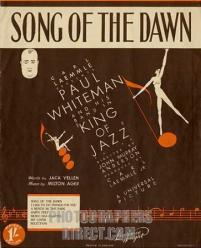 1930 Song of the Dawn sheet music cover, from film King of Jazz (1930)