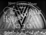Hollywood Revue of 1929 opening