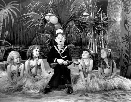 Alfalfa and hula girls-1