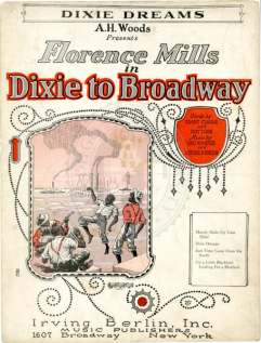 Dixie Dreams sheet (Florence Mills, Dixie to Broadway) 1924