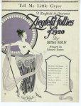 1920-Irving Berlin-Tell-Me-Little-Gypsy-Ziegfeld-Follies