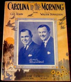 1922 Carolina in the Morning--Van and Schenck, Columbia A-3712, recorded on 18 September 1922-d40-g15