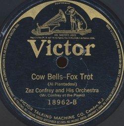 1922 Cow Bells (Al Piantadosi), Zez Confrey, Victor 18962-B-f8-hx50