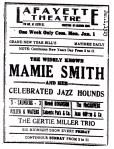 Mamie Smith Jazz Hounds_Lafayette, 1-1-23