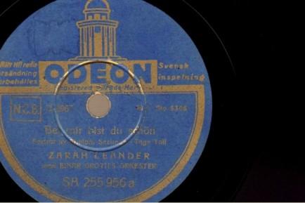 1938 Bei mir bist du schön-Zarah Leander Odeon (Sweden) D 2967, matrix SA 255 956-(1a)
