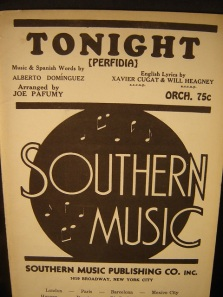 1939 Tonight (Perfidia)-m. Alberton Dominguez, w. Xavier Cugat, Will Heagney (2)-50p