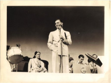 Benny Goodman and his Orchestra at the Golden Gate Exposition in SF, 1939 (2)-seated, left-Louise Tobin