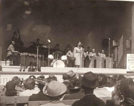 Benny Goodman and his Orchestra at the Golden Gate Exposition in SF, 1939 (3)-center-vocalist Louise Tobin