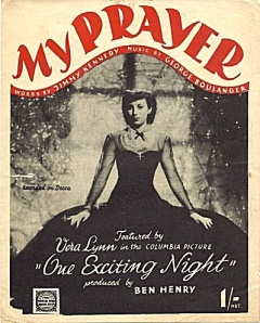 1944 My Prayer-featured by Vera Lynn in One Exciting Night-sheet music-1a