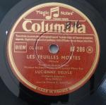 1949 Les Feuilles mortes, Lucienne Delyle, Columbia (Fr) BF 286-c1