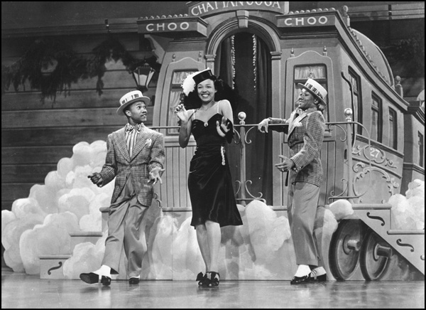 Sun Valley Serenade (1941) Directed by H. Bruce Humberstone Shown: Nicholas Brothers, Dorothy Dandridge Song: Chatanooga Choo Choo