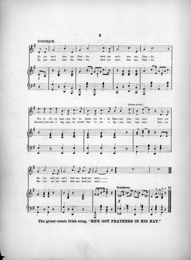 All Music Chords fall for you sheet music : Can't lose me, Charlie (1893) – sheet music | Songbook