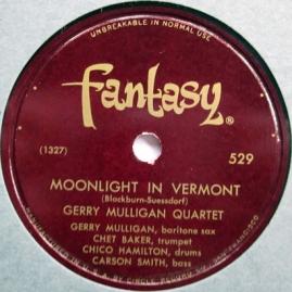 1953 Moonlight In Vermont-Gerry Mulligan Quartet-Fantasy 529