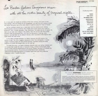 1956 Caribbean Moonlight-Les Baxter, Capitol Records DT 733 (LP, back)