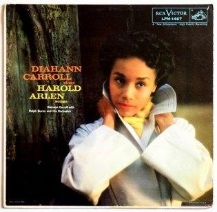 1957 Diahann Carrol Sings Harold Arlen Songs (LP)-RCA Victor LPM 1467 (1a)