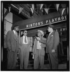 Thelonious Monk, Howard McGhee, Roy Eldridge, and Teddy Hill, Minton's Playhouse, New York, N.Y., c. Sept. 1947 (William P. Gottlieb06281)