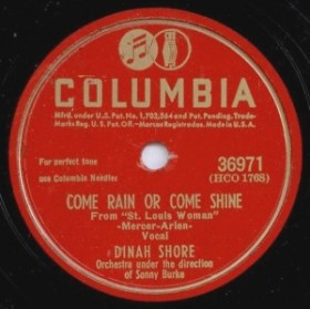 1946 Come Rain or Come Shine-Dinah Shore-Columbia 36971