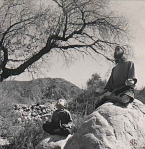 ahbez and son zoma meditating on rocks-f25