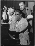 Oscar Moore, Nat King Cole & Wesley Prince, New York, N.Y. Jul. 1946-Gottlieb-2-f17