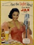 Dorothy Dandridge-c.50s Jax beer poster