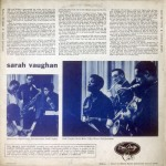 1954 Sarah Vaughan LP, EmArcy MG-36004 (back)