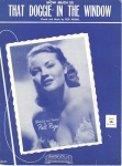 How Much is That Doggie in the Window, 1952 - Patti Page-sheet cover-1a