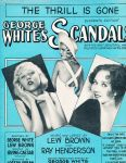 1931-The Thrill is Gone-George White'sScandals-1