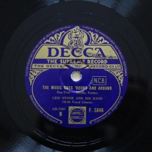 1936 The Music Goes 'Round and Around-Lew Stone and his Band-Decca (UK)-F.5846