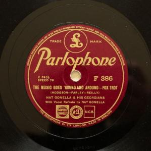 1936 The Music Goes 'Round and Around-Nat Gonella & his Georgians, Parlophone F 386