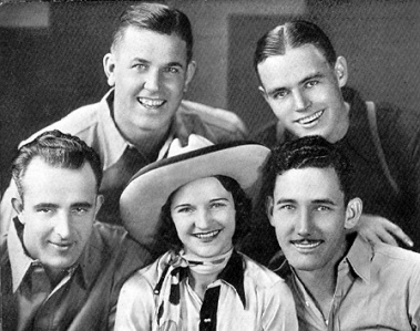 Patsy Montana and the Prairie Ramblers - (top) Chick Hurt and Tex Atchison, (below) Jack Taylor, Patsy Montana and Salty Holmes