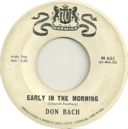 1961 Early In the Morning-Don Bach-B-side of Warwick M 632
