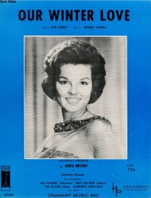 1963 Our Winter Love sheet music, Anita Bryant vocal edition-1aa