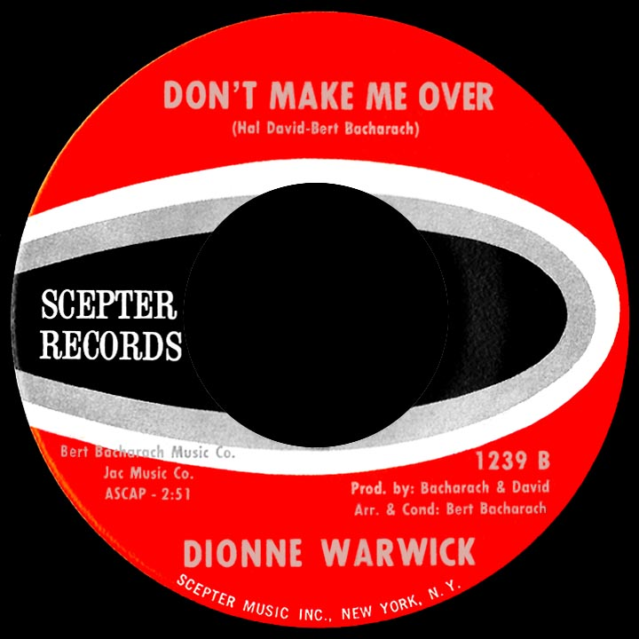 Dionne Warwick Dont Make Me Over I Smiled Yesterday