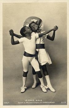 Rudy and Fredy Walker, billed as Les Enfants Nègres at Le Nouveau Cirque in 1903, postcard # 142/1