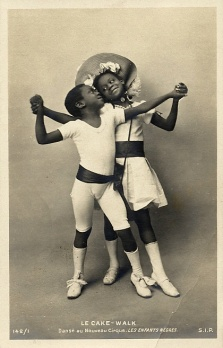 Rudy and Fredy Walker, billed as Les Enfants Nègres at Le Nouveau Cirque in 1903, postcard # 142/1